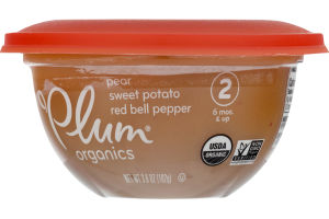 Plum Organics Pear Sweet Potato Red Bell Pepper