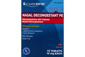 CareOne Nasal Decongestant PE - 72 CT