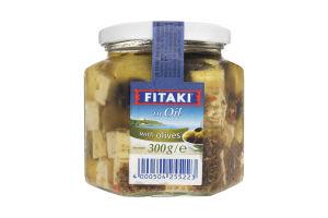 Сир Fitaki з оливами та маслинами с/б 45% 300г Німеччина х6