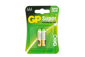 GP батарейки Super LR03 AAА, 2шт