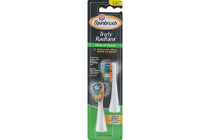 Arm & Hammer Spinbrush Truly Radiant Clean & Fresh Replacement Brush Heads Soft - 2 CT