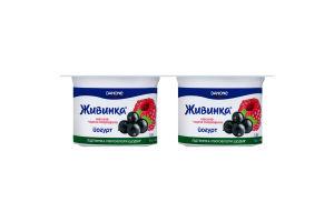 Йогурт 1.5% Малина-черная смородина Живинка ст 4х115г