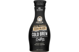 Califia Farms Lightly Sweetened Cold Brew Coffee Pure Black