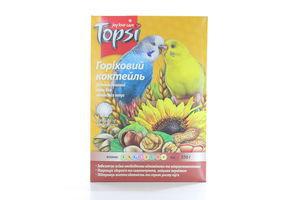 Корм витаминный для волнистых попугаев Ореховый коктейль Topsi 550г
