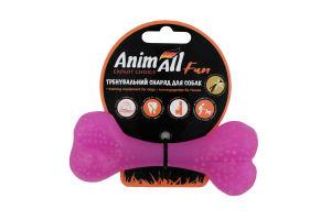 Снаряд тренувальний для собак 12см фіолетовий №88114 Кістка Fun AnimAll 1шт