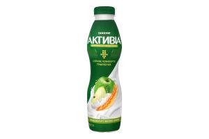 Бифидойогурт 1.5% Яблоко-злаки Активіа п/бут 580г