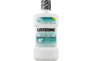 Listerine Healthy White Sodium Fluoride Anti-Cavity Mouthrinse Clean Mint