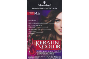 Schwarzkopf Keratin Color Permanent Anti-Age Hair Color 4.6 Intense Cocoa