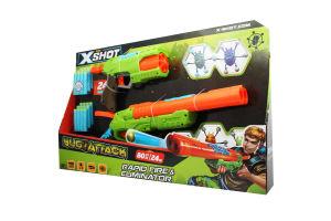 Набор бластеров Zuru X-Shot Огонь по жукам, 2 оружия и 24 патрона