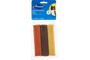 Companion Dog Bars Assorted Munchy 5 Inch - 3 CT
