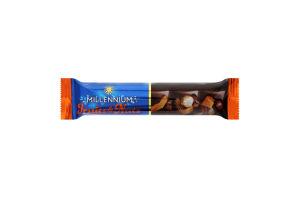 Шоколад молочний з мигдалем, цільними лісовими горіхами, курагою і родзинками Fruits&Nuts Millennium м/у 35г