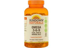 Sundown Naturals Omega 3-6-9 Softgels - 200 CT