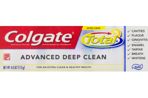 Colgate Anticavity Fluoride And Antigingivtis Toothpaste Total Advanced Deep Clean