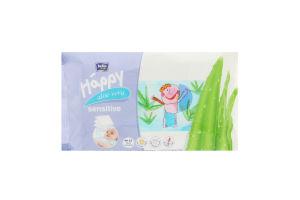 Салфетки влажные aloe vera Happy Baby Bella 56шт