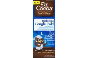 Dr. Cocoa for Children Nighttime Cough+Cold Real Chocolate Taste