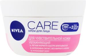 Крем для лица увлажняющий для чувствительной кожи Care Nivea 100мл