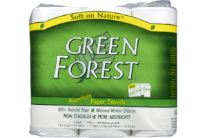 Green Forest Premium Size Your Own White Paper Towels - 3 CT