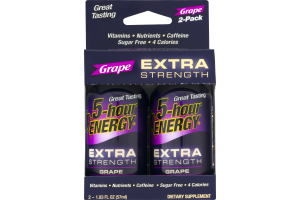 5-Hour Energy Extra Strength Dietary Supplement Grape - 2 PK