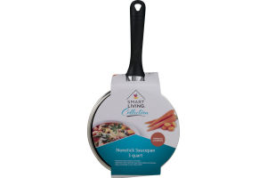 Smart Living 3 Quart Nonstick Saucepan