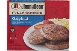 Jimmy Dean Fully Cooked Original Pork Sausage Patties - 8 CT