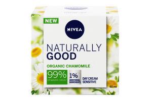 Крем для чувствительной кожи лица дневной Naturally Good Nivea 50мл