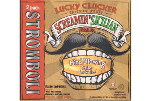 Screamin' Sicilian Stromboli Lucky Clucker Chicken Pesto - 2 CT