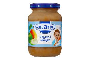 Пюре для дітей з 4міс Груша і Яблуко Карапуз с/б 200г