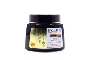 Маска для поврежденных и окрашенных волос аргановая 8в1 Argan+keratin Eveline 500мл