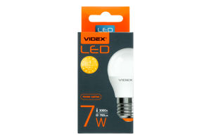 Лампа світлодіодна G45e 7W E27 3000K 220V Videx 1шт