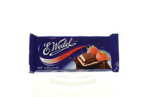 Шоколад E.Wedel молочний з полуничною начинкою 100г х20