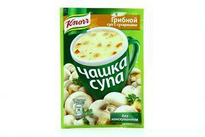 Суп быстрого приготовления Грибной с сухариками Чашка супа Knorr м/у 15.5г