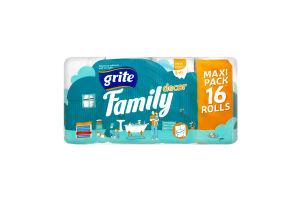 Папір туалетний Grite Family Deco 16шт. х12