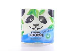 Бумага туалетная 2-х слойная SuperAbsorb Сніжна панда 4шт
