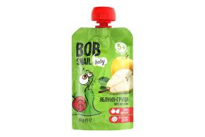 Пюре фруктове для дітей від 5міс Яблуко-груша Bob Snail д/п 90г