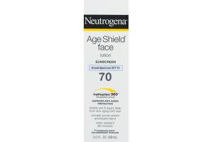 Neutrogena Age Sheild Face Lotion Sunscreen Broad Spectrum SPF 70
