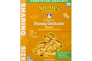 Annie's Homegrown Organic Bunny Grahams Honey Baked Graham Snacks