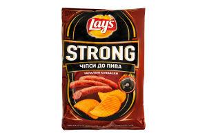 Чипсы к пиву со вкусом охотничьих колбасок Strong Lays м/у 120г