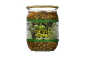 Горошок зелений консервований стерилізований Білоцерківський консервний завод с/б 510г