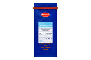 Кофе натуральный жареный молотый Espresso Decaffeinato Gemini м/у 250г