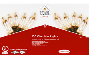 Ahold Smart Living Holiday Clear Mini Lights - 100 CT