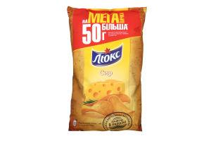Чипсы со вкусом сыра Люкс м/у 183г
