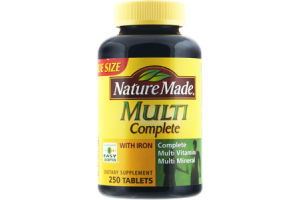 Nature Made Multi Complete with Iron Dietary Supplement Tablets - 250 CT