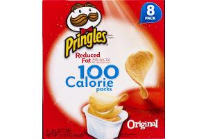Pringles Reduced Fat 100 Calorie Potato Crisp Packs Original - 8 CT