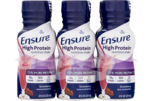 Abbott Ensure High Protein Nutrition Shake Strawberry - 6 PK
