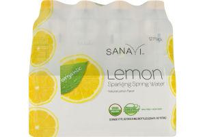 Sanavi Sparkling Spring Water Lemon - 12 CT