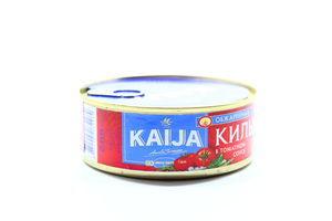 Килька в томатном соусе Kaija ж/б 240г