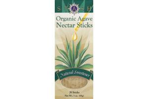 Stash Organic Agave Nectar Sticks Natural Sweetener - 20 CT