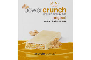 Power Crunch Protein Energy Bar Original Peanut Butter Creme - 12 CT