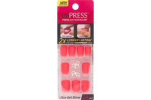 ImPRESS Press-On Manicure Ultra Gel Shine Gel Nails Estatic Cling - 24 CT