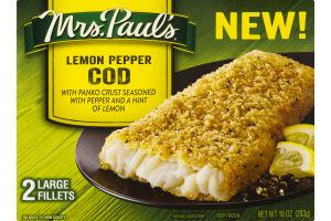 Mrs. Paul's Lemon Pepper Cod Fillets - 2 CT